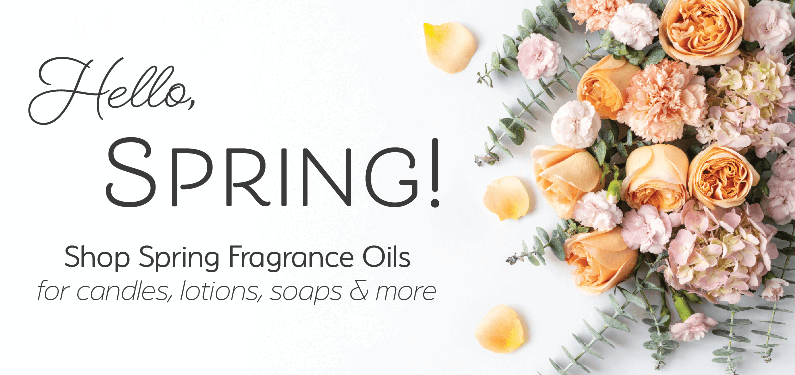 spring fragrance oils, orange roses, flowers