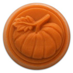 Pumpkin Small Round Soap Mold (MW 160)