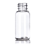 1 oz. Clear PET Boston Round Bottle, 20-410