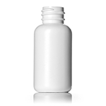 2 oz. White HDPE Vogue Round Bottle, 24-410