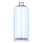 16 oz Clear Boston Round Plastic Bottle - 24/410