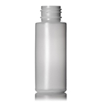 02 oz Natural Cylinder Round Plastic Bottle - 24/410