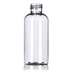 4 oz. Clear PET Boston Round Bottle, 24-410