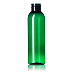 4 oz. Emerald Green PET Cosmo Round Bottle, 24-410