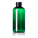 4 oz. Green PET Boston Round Bottle, 24-410