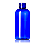 4 oz. Cobalt Blue PET Boston Round Bottle, 24-410