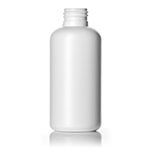 4 oz. White HDPE Boston Round Bottle, 24-410