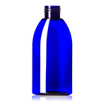 4 oz. Cobalt Blue PET Capri Oval Bottle, 24-410