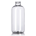 08 oz Clear Modern Boston Bottle - 24/410