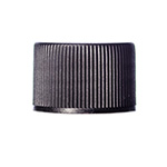 Black Ribbed PP Lid w/F217 Liner, 20-410