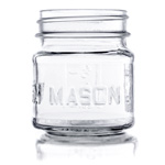 8 oz. Square Mason Jar, case of 12