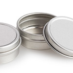 .25 oz Shallow Round Tin w/ Friction Lid