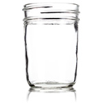 8 oz. Smooth Jelly Jar, case of 12